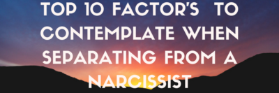 Separate from a Narcissist